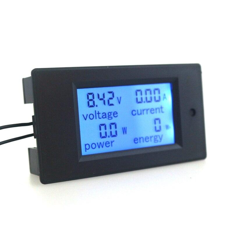 DC 6,5 ~ 100V 0 ~ 20A digitální LCD volt AMP voltmetr ampérmetr - Měřicí přístroje - Fotografie 3
