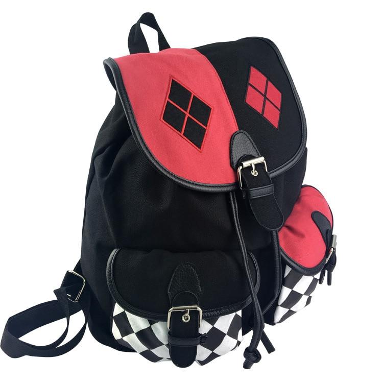 Suicide Squad Harley Quinn Backpack Mochila Cosplay Knapsack School Bag Joker Children Boys Girls Casual Schoolbag