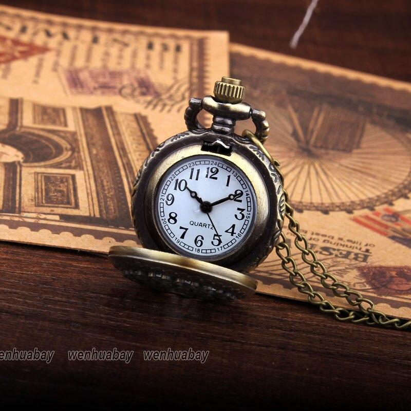 Brązowy Pająk Web Hollow Naszyjnik Mężczyzna Vintage Zegarek - Zegarki kieszonkowe - Zdjęcie 3