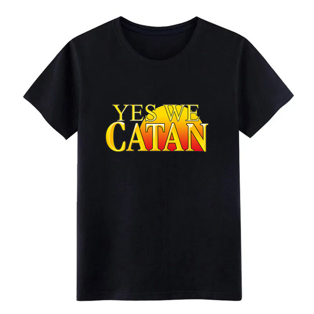 6f4541d2e33ed6 yes we catan se ttlers of catan men s jersey t shirt printed 100% cotton  Euro Size S-3xl homme Graphic Summer Style shirt