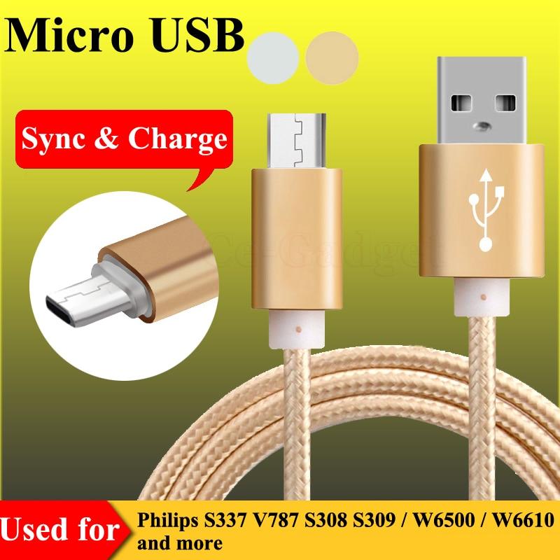 3FT Mikro Usb Kabel Sinkronisasi Cepat Data Sinkronisasi untuk Philips Xenium I908 V377 V387 V526 V787 V8526 W3500 W3568 W6500 w7555 W8555 W8500-Internasional