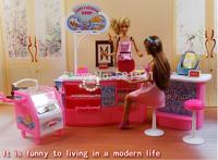 Free Shipping Girl Gift Plastic Play Set Candy And Ice Cream Shop Gift Set Doll Accessories