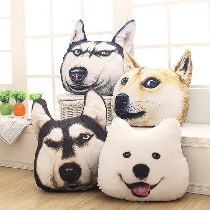 Shape Office Bulldog Dog Headrest Living Room Sofa Car Office Nap Emoji Pilllow Neck Rest Cushion