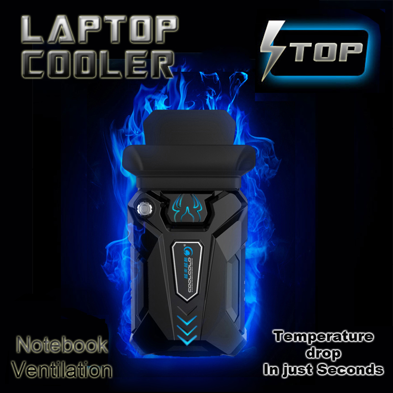 High Performance suction type external laptop cooler usb fan turbine technology suporte para notebook Ventilation cooling pad
