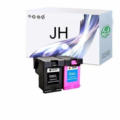pacote 2 123xl cartuchos de tinta recarregados para hp123 xl deskjet 1110 1111 1112 2130