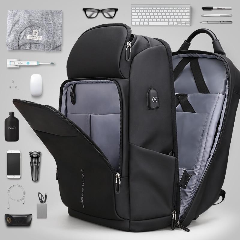 men's backpack waterproof bag Retro oil wax large capacity outdoor canvas bag backpack computer bag - 2