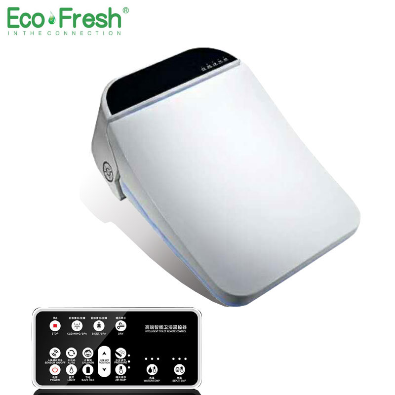 Ecofresh Carré intelligent siège de toilette washlet bidet Électrique couverture intelligente bidet chaleur propre séchage Massage Soins
