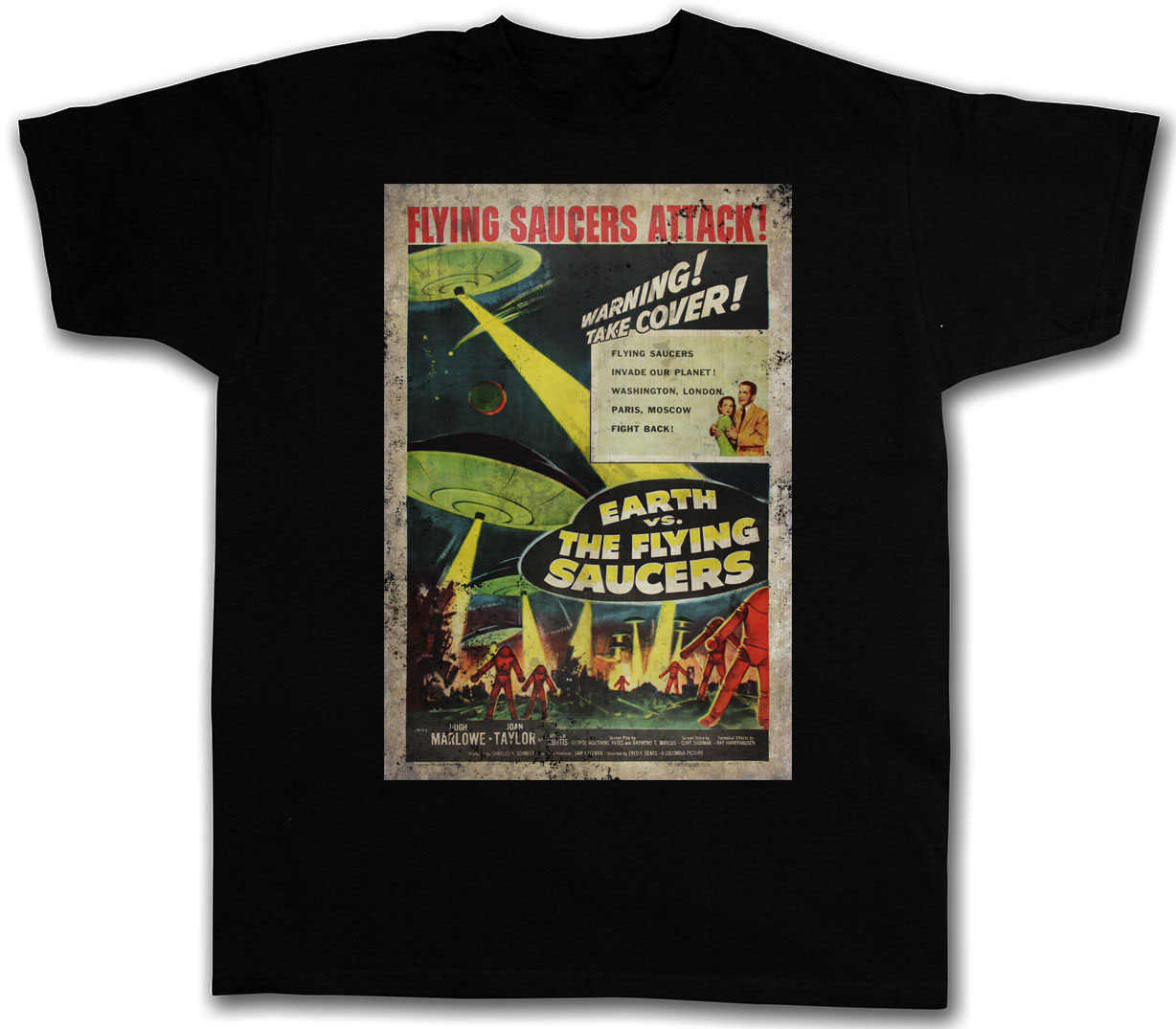 e7014b9be045 Detail Feedback Questions about EARTH VS. FLYING SAUCERS I T SHIRT ...