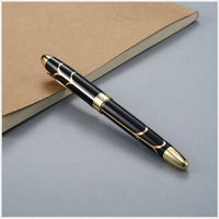 1Pcs Student Stationery Business Practice Words Calligraphy Gift Iridium Gold Frosted Rod Metal Pen Office