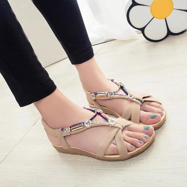 0b83da3d0 mokingtop shoes woman sandals Women s Summer Sandals Shoes Peep-toe Low  Shoes Roman Sandals Ladies Flip Flops