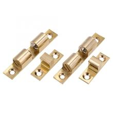 Solid Brass Ball Cabinet Door Catch Set Lock For Cupboard Wardrobe Hardware Easy Open/Close Latch 4 sizes