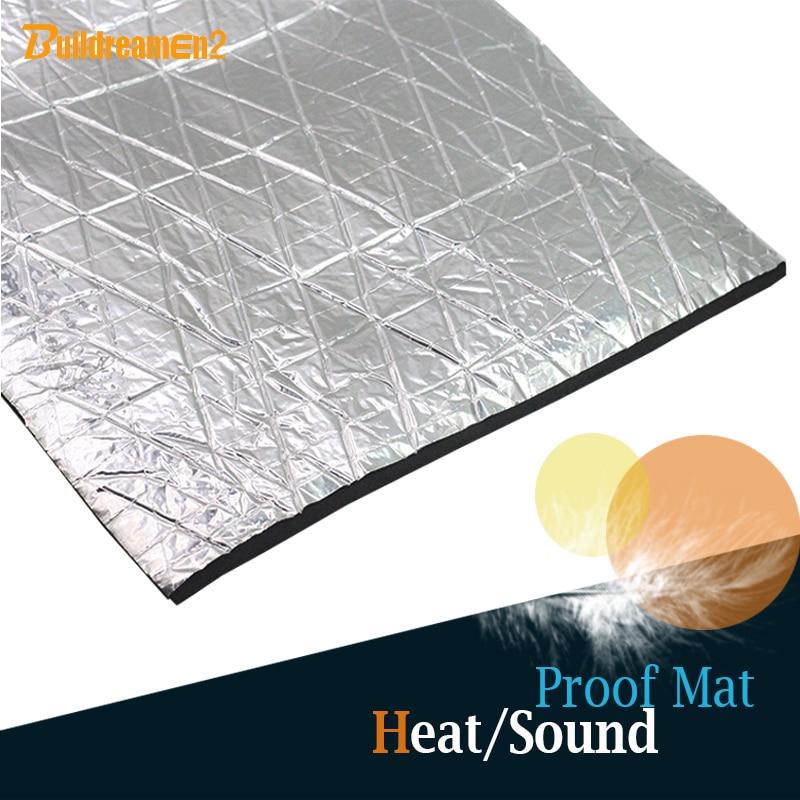 10 X hojas de papel de aluminio térmico coche vehículo 6 mm aislamiento de la espuma insonorización amortiguamiento