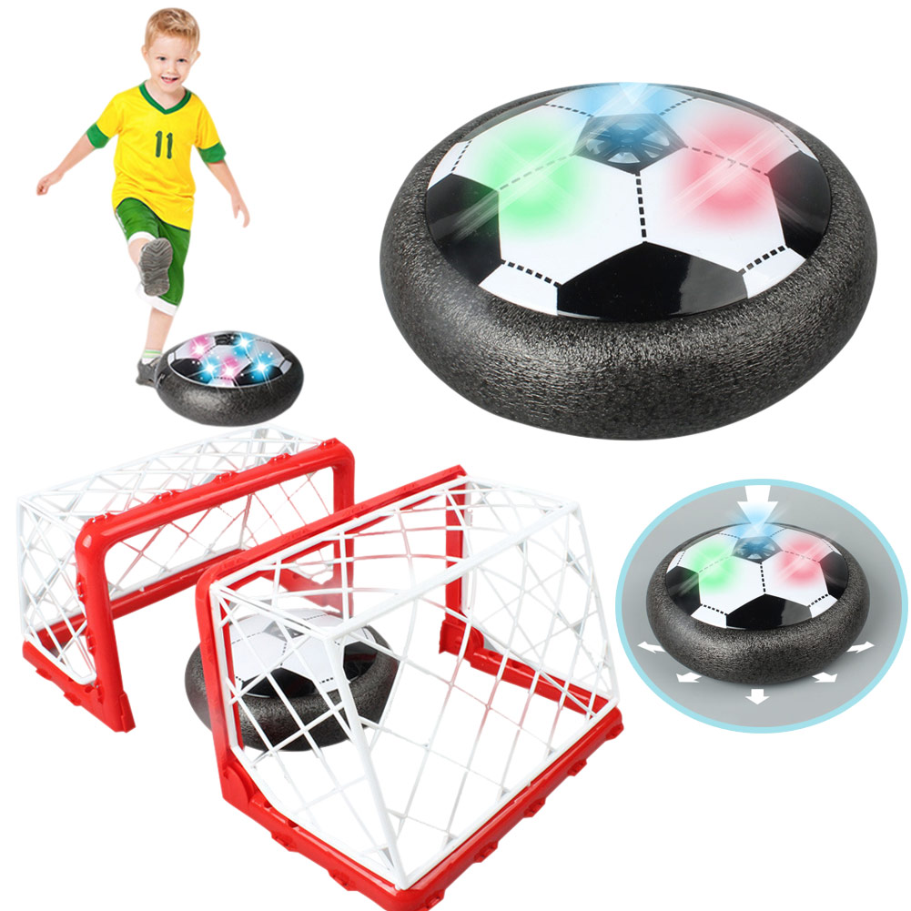 Newly Children Boys LED Electric Football Toys Set Air Levitation Game Indoor Training Ball Birthday Gift Present BFE88