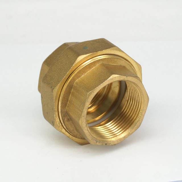 Online Shop Brass pipe union Connector Coupling 1.1/4\