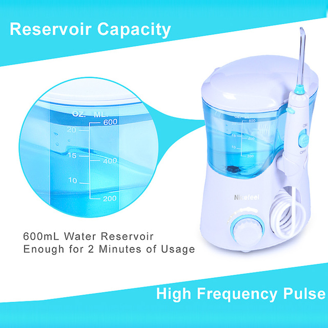 TINTON LIFE FC-169 FDA Water Flosser With 7 Tips Electric Oral Irrigator Dental Flosser 600ml Capacity Oral Hygiene For Family Oral Irrigators
