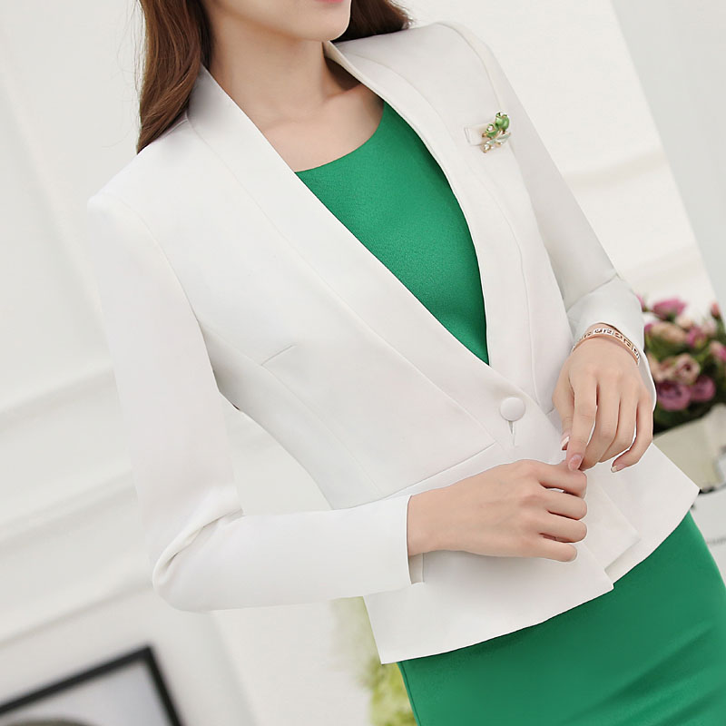 5eaac25aa97a 2016 Professional Formal OL Styles Spring Autumn Business Women Suits With  Jackets And Dress Ladies Office Outfits Sets Uniforms-in Dress Suits from  Women's ...
