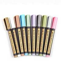 STA 8151 10 Colors Water-based Ink Graffiti And DIY Metallic Color Marker Pen Art design supplies