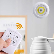 3 LED Cabinet Light Wireless Spot Stick-On Anywhere Tap Night Lamps Battery NOT Included Led Remote Control