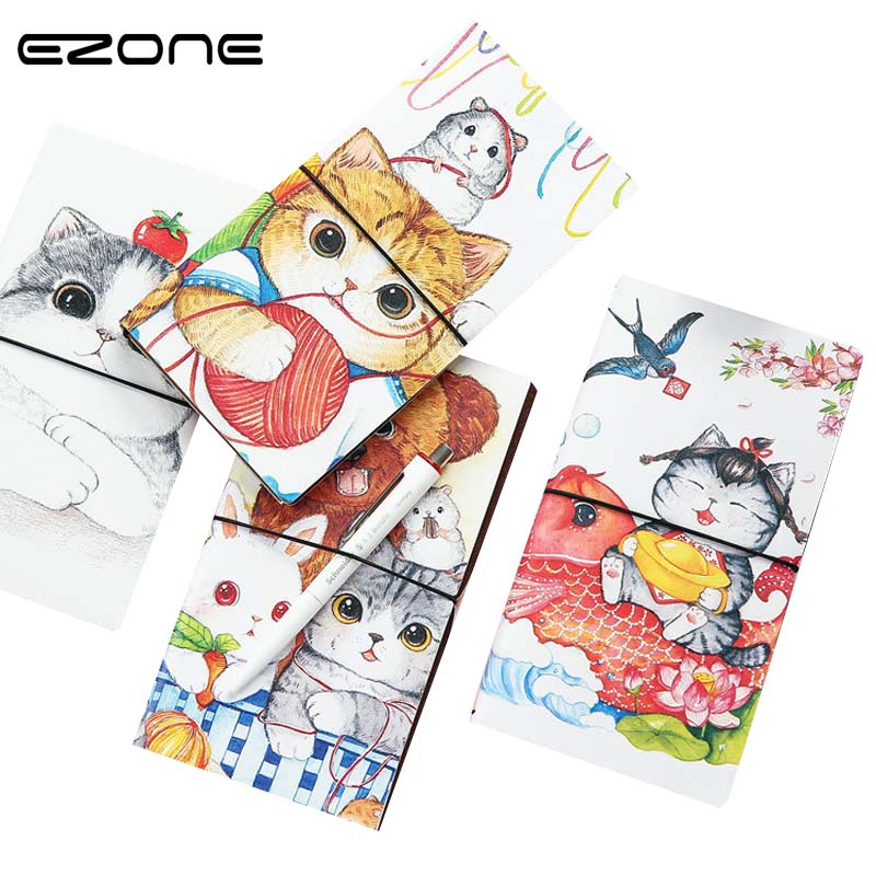 EZONE 1PC Planner Notebook Cat Travel Journal Diary Book Exercise Composition Binding Note Notepad School Supplies Stationery EZONE 1PC Planner Notebook Cat Travel Journal Diary Book Exercise Composition Binding Note Notepad School Supplies Stationery