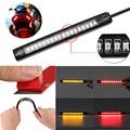 DC 12V Universal Flexible 18 LED Motorcycle ATV Tail Brake Stop Turn Signal Strip Light Brake Light License Plate Light