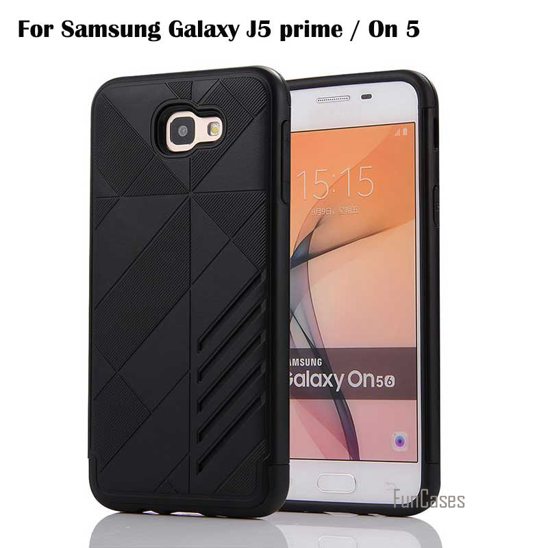 New For Samsung Galaxy J5 prime Case Cover Shock-Proof Mobile Phone Bag TPU PC Cases for Galaxy On5 2016 / G5700 Capa 5.0 inch ...