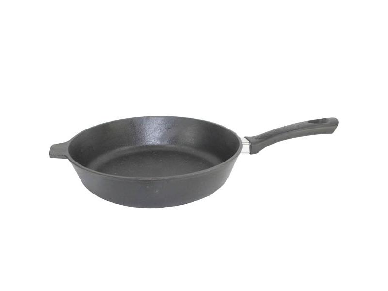 Frying Pan Камская tableware, 28 cm, with Bakelite handle frying pan нева metal tableware cast scandinavia grey 26 cm