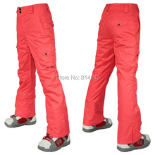 Free shipping 2014 womens ski pants ladies snowboarding pants outdoor sports pants waterproof breathable warm