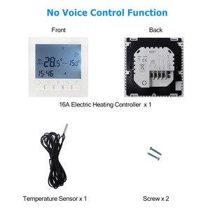 Image 5 - منظم حراري ذكي واي فاي لاسلكي متحكم في درجة الحرارة APP الضوابط 16A التدفئة الكهربائية الكلمة لغرفة دافئة منظم الحرارة