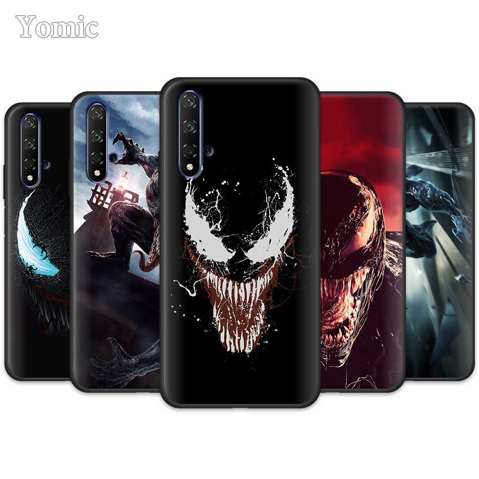 <font><b>Marvel</b></font> Venom Super Hero Black Silicone <font><b>Case</b></font> for Huawei <font><b>Honor</b></font> 20 Pro <font><b>9</b></font> 10 20 <font><b>Lite</b></font> 7A 7C 7S 8A Pro 8X 8C 8S View 20 <font><b>Cases</b></font> Coque image