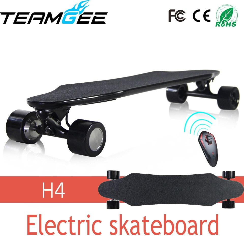 Four Wheels Electric Skateboard Two Motors Smart Longboard Dual Drive 4 Hoverboard Giroskuter Volante