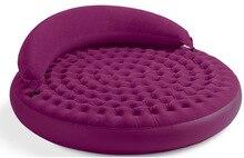 Grade flocking inflatable sofa bed double plus backrest lazy leisure sofa