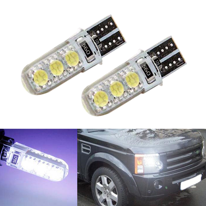 2x T10 5050 SMD 6 LED W5W Parking Lamp Clearance Light For Land Rover v8 discovery 4 2 3 x8 freelander 2 defender A8 a9