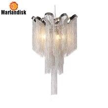 Современные Алюминий подвесной светильник роскошный Алюминий цепи G9 базы Крытый подвесные светильники для бара Обеденная Гостиная Спальня