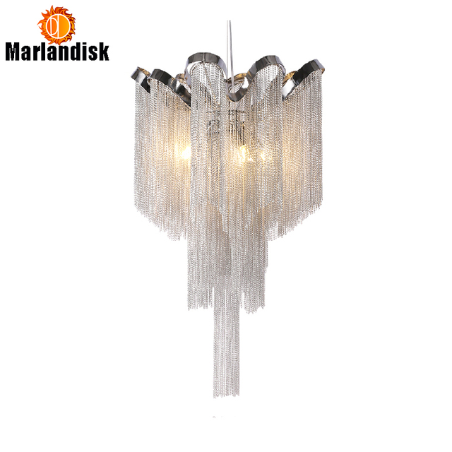 Us 119 5 Modern Aluminum Pendant Lamp Luxury Chains G9 Base Indoor Hanging Lights For Bar Dining Room Living Bedroom In