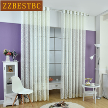 Modern pastoral style high-grade lace tulle curtains for kitchen living room bedroom 3 colors can be selected luxury Voile drape