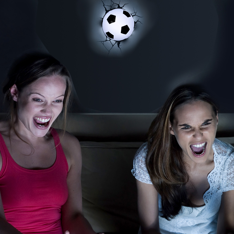 Creative LED 3D Nightlight Soccer for Kid Boy Gift Wall Decoration Holiday Party Football Lighting IY303166-7 creative led 3d nightlight hockey for kid boy gift wall decoration holiday party hockey lighting iy303166 5