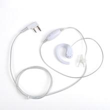 10 Pieces White Wired 2 Pins Earphones PTT Microphone Headset For Kenwood TK Two Way Radio Earpiece Earphones