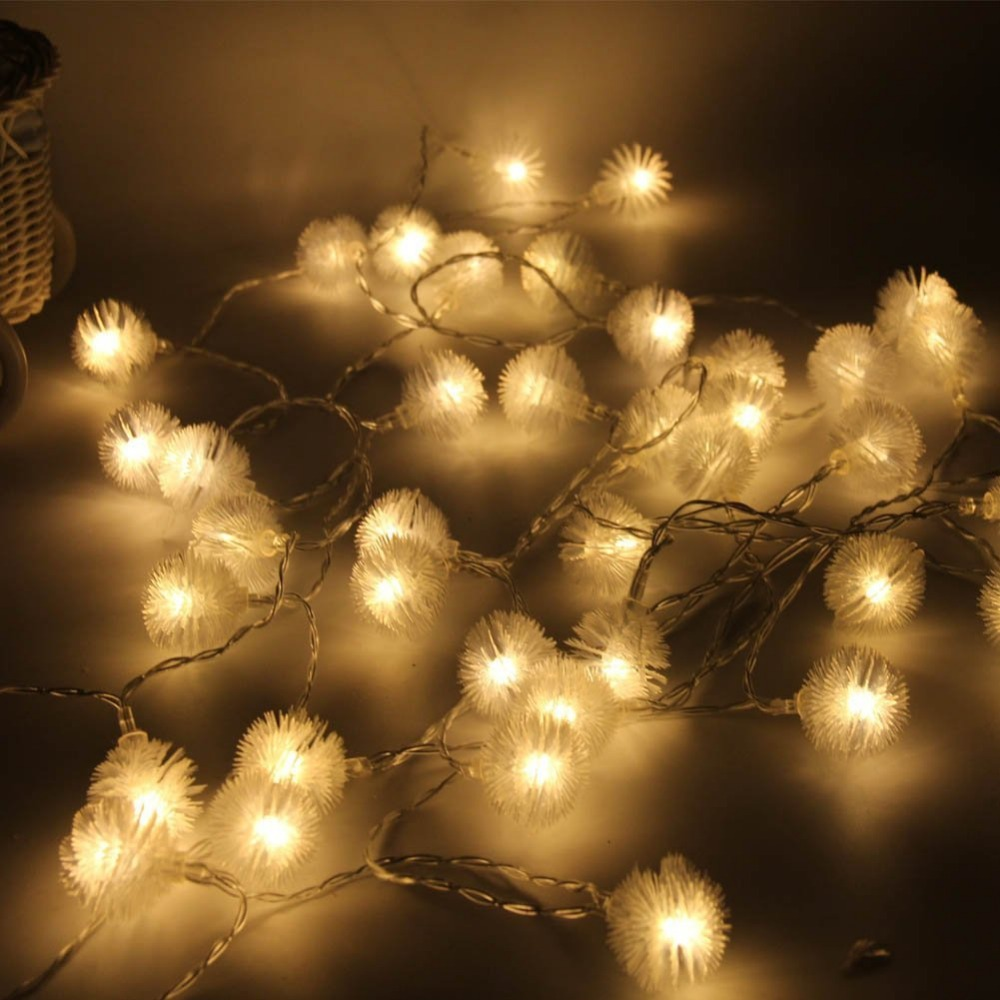 LED Snow Fairy String Lights 40 LED 15ft Dandelion Outdoor Indoor Rope Light Decorative for Gardens Patio Home Wedding Party-in LED String from Lights ... & LED Snow Fairy String Lights 40 LED 15ft Dandelion Outdoor Indoor ...