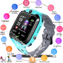 LIGE Children Smart Watch Phone Camera Touch Screen SOS Call LBS Tracking Location Finder Kids Baby SmartWatch Reloj inteligente(China)