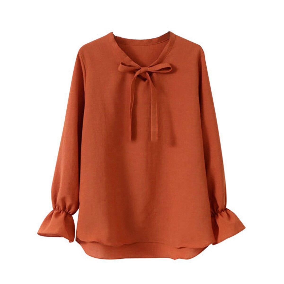 2019 été automne haute qualité hauts bureau dames Blouse mode à manches longues arc Slim chemise femme moulante travail Blouses Blusas