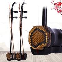 Handmade Ebony Erhu 2 String Chinese Musical Instrument Erheen With Bow Case