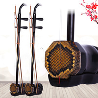 Handmade High Quality Ebony Erhu 2 Strings Chinese Musical Instrument Erheen With Bow Hard Case Free Shipping