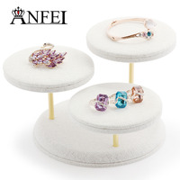 Beauty Necklace Display Cases Pendant Hanger Exhibition Box Fashion Jewelry Display Stand For 18 Pendnts Tray