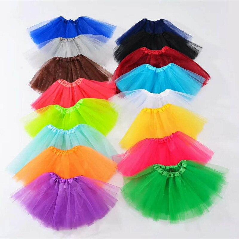 Fashion Multi Color Baby Infant Girls Tutu Skirt Tulle Ballet Dance Performance Skirt Wedding Party Dress Clothing