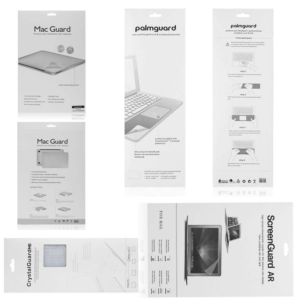 Prix pour UltraTough Argent Full Body film de Protection pour MacBook Air Pro Retina Avant + Peau Inférieure + Garde + Écran Protecteur Trackpad Autocollant