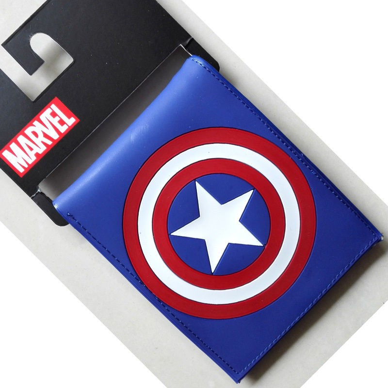 Comics DC Marvel mini wallet Captain America Mens Wallets luxury Animation Cartoon Super Hero Card Holder Bags PVC Gift Purse коврик для мышки printio серая кошка page 4