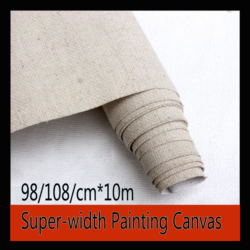 10m Super-width Linen Blend Painting Canvas Cloth Oil Painting Paper Canvas And Wooden Drawing Board