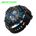 Mens Wristwatch Sanda Luxury Brand Watches Men S Style Army Military Sports Analog Quartz LED Digital Watch Clock relojes hombre