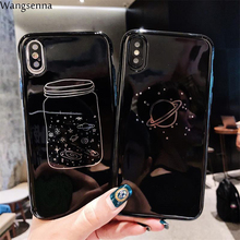 Wangsenna Starry sky Case For iPhone 7 8 Plus XS Max XR Xs Letter Phone Cases For iPhone X 8 7 6 6S Plus Soft TPU Back Cover стоимость