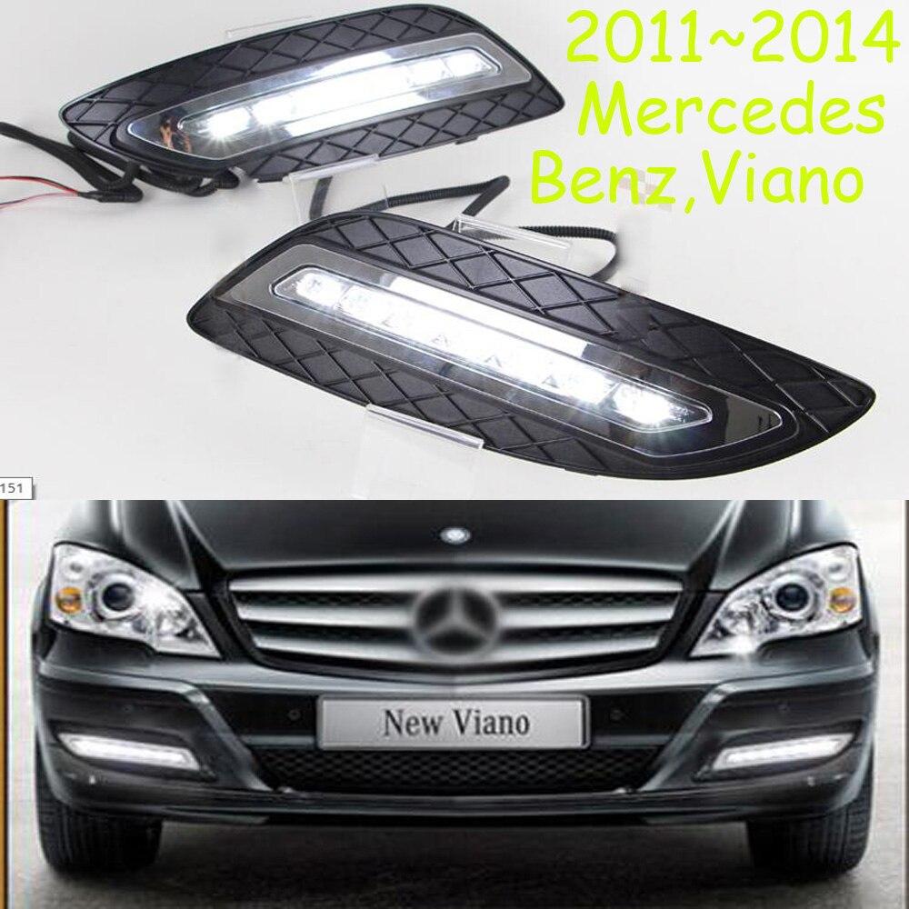 Виано дневного света,2011~2014,вело,свободный корабль!2шт,автомобиль-детектор, противотуманная фара Виано,Виано,190Е,200Т,280TE,А200,B180,В200,С200,SL320